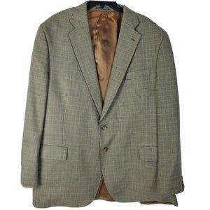 Austin Reed Blazer 50L Silk Wool Blend Windowpane